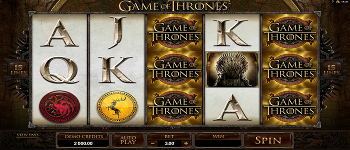 'Game of Thrones' 5 Reel Slot Machine from Microgaming