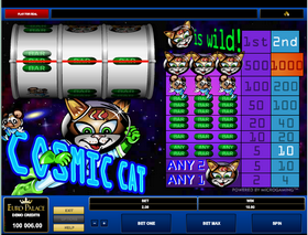 'Cosmic Cat' has just a single payline