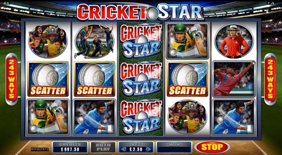 'Cricket Star' Scatter Symbol can help you win big